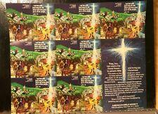 1977 American Bible Society Christmas Nativity Stamp Sheet - Item #5480