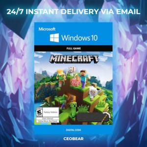 Minecraft Windows 10 Edition Key CD (PC) INSTANT