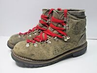 🔥 Vintage Milo mountaineering/hiking boots Womens 8 M Brown Leather Vibram Sole