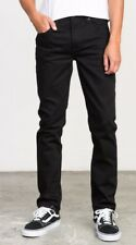 RVCA - Men's Hexed Black Straight Stretch Denim Jeans, Size 32. NWT. RRP $99.99