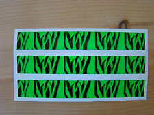 Carbon Arrow Wraps Custom 13 Pack 7 Inch Flo Green Super Tiger Stripe Bowhunting