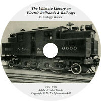 35 Books on DVD, Ultimate Library on Electric Railroads & Railways, Locomotive