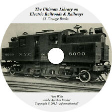 35 Books on DVD, Ultimate Library on Electric Railroads & Railways, Locomotive