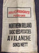Vintage de Hesse de pommes de terre Sacs x3-McCreight Brand!!! Jute, petit sac en jute