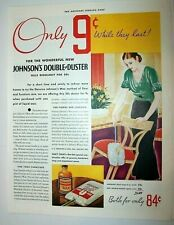 Johnson's Wax and Double Duster 84 cents art deco 1933 ad