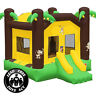 Commercial Grade 17 x 13 Bounce House 100% PVC Inflatable Jungle Jumper w Blower