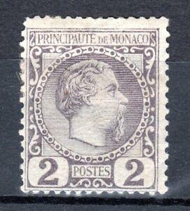 Monaco 1885 n° 2 * MH Prince Charles III CV 80$