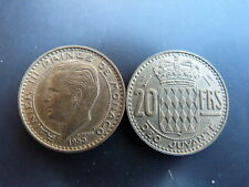 Pièce monnaie MONACO 20 Francs 1950 RAINIER III bon état