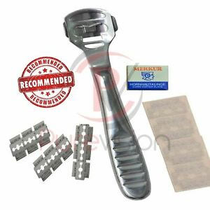 Hard Skin Cutter Foot Pedicure Knife Scraping Foot Knife Foot Care Tool + Blades