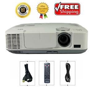 NEC NP-M271X 3LCD Projector 2700 Lumens Movie HD 1080p HDMI w/Accessories