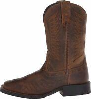 Kids' Honor Western Cowboy Boot, Distressed Brown, Size 6.0 eTwC