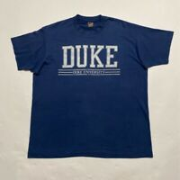Duke University Fruit Of The Loom Mens T-Shirt Blue Crew Neck Vintage Tee XL