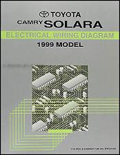 1999 Toyota Camry Solara Wiring Diagram Manual Original Electrical Schematics