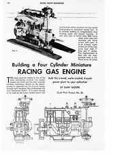 50CC  Wall 4 cylinder gas engine you can build on paper