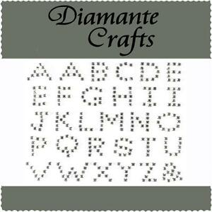 Diamante Alphabet Letters Self Adhesive Rhinestone Vajazzle Body Art  Gems UC