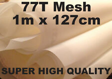 77T Silk Screen Printing Mesh (196US) 1m - White - Super High Quailty 127cm Wide