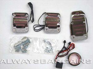 Megan Chrome Neon light Pedals Volkswagen Golf GTI 1988 - 2010 Red MT