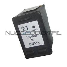 Tinta negra reciclado sustituye  HP 21 HP21 XL Deskjet D1460  D1468  D1470