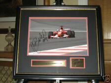 SIGNED & FRAMED  BARRICHELLO FERRARI F1 PICTURE AWESOME