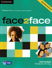 CAMBRIDGE face2face Intermediate B1+ SECOND EDITION Workbook with Key @NEW 2013@