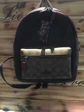 Coach Womens Star Wars X Charlie Medium Signature Leather Backpack