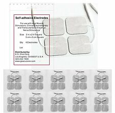 Premium TENS Unit 40 Electrode Pads 2x2 in. Reusable Gel Carbon Electrodes