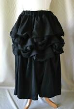 Comme des Garcons Black Wool Skirt with Ruffled Layers Size Small NWT