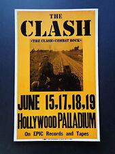 THE CLASH -  HOLLYWOOD PALLADIUM -  ORIGINAL VINTAGE ROCK CONCERT PROMO POSTER