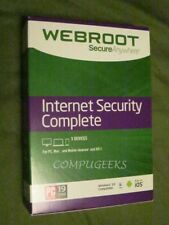 Webroot Internet Security Complete 2021   3 YEARS protection for 5 DEVICES