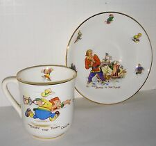 Gabby Cartoon character china cup and saucer with great graphics ealry England