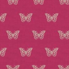 Fabric 100 Cotton Makower Uk. Botanica Butterfly Fuchsia 1863/p
