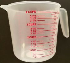 4 Cup (1 liter) Measuring Cups Polypropylene Calibrated in oz and mL 1/Pk
