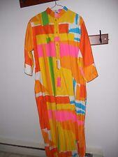Vintage Catherine Ogust Mod Maxi Dress Caftan 70's Hostess Penthouse Gallery