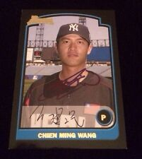 CHIEN-MING WANG 2003 TOPPS BOWMAN ROOKIE Autographed Signed AUTO Card BDP165
