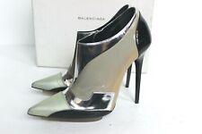 BALENCIAGA FW2008 Nicolas Ghesquière Silver Grey Pointy Ankle Boots 40 uk 7