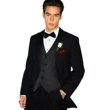 Black Men Wedding Suits Slim Groom Tuxedos Formal Prom Party Suits Custom Made