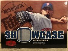 2006 Flair Showcase Stitches #JS Johan Santana Jersey