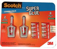 Scotch Superglue Multi Combo Pack No Run Gel Precision Applicators