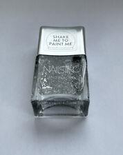 Nails Inc Nail Polish 14ML Snow globe Silver Gel Effect, Multivitamin,