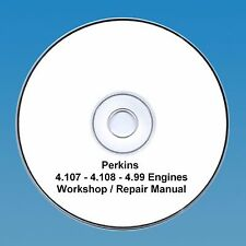 Perkins 4.108, 4.107 & 4.99 Engines Workshop Repair Manual CD PDF