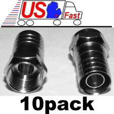 Lot10 Tv/Satellite Rg6U Coax/Coaxial/F81 cable/cord/wire hex Crimp-On End{nickel