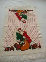 Vintage Cannon 1980's Christmas Terry Cloth Kitchen Dish Towel Santa