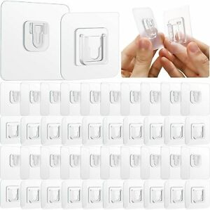 Pufai Smart Hook Double Sided Adhesive Wall Hooks  20 Set 40 Pieces