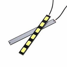 2x White COB Car DRL 6-LED Daytime Running Light Backup Brake Fog Lamp DC 12V
