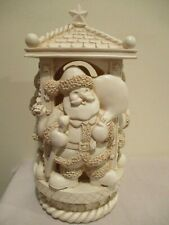 """Santa Claus - Battery Operated Candle with timer 4 or 8 hours - almost 12"""" tall"""