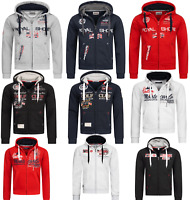 Geographical Norway Herren Sweat Jacke FVSB Kapuzenpullover Hoodie Übergangs