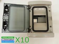 10 X 4 Way mod consumatore unità finestra DIN BOX IP65 + TERRA & Barra NEUTRO mpmha4