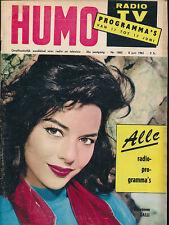 HUMO 1083 (8/6/61) GIOVANNA RALLI LOUIS NEEFS HITCHCOCK RIVA GUITRY PERRY COMO