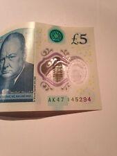 AK47 145294 Banco de Inglaterra polímero nota circulada £ 5 cinco libras Kalashnikov