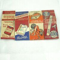 4 Vintage Matchbook Cover Winston King Size Chesterfield Marvels Cigarette Macke